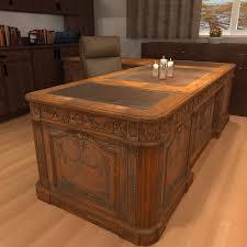 Office Wood Desk Interior Design For Wood Office Desk Carved Antique 3d Model