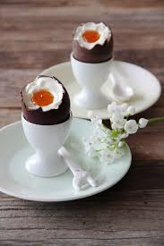 filled easter eggs cheese cake filled easter eggs fork and flower