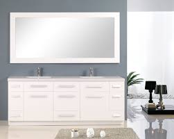 adorna 84 inch white double sink bathroom vanity in white set