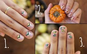 thanksgiving nails 3 easy designs youtube