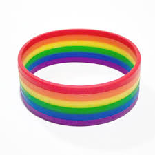 bracelet rainbow images 2018 new fashion silicone rainbow pride bracelet mutilayered jpg