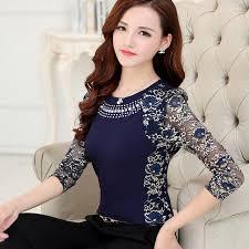 s plus size blouses 2017 fashion high quality s plus size lace blouse shirts