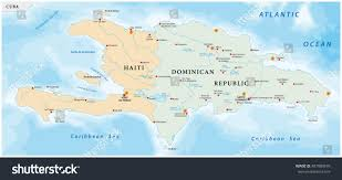 Map Of Caribbean Sea Islands by Map Caribbean Island Hispaniola Stock Vector 487989676 Shutterstock