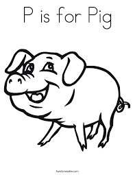 P Is For Pig Coloring Page Twisty Noodle Pig Coloring Pages