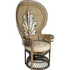 siege en rotin fauteuil emmanuelle en rotin teinté marron