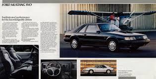 1985 5 mustang svo 1986 mustang svo sales brochure ford mustang svo