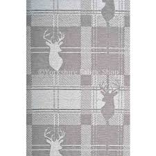 stag head designs highland collection luxury soft like cotton feel stag deer head