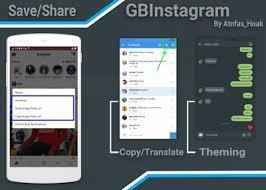 instagram mod apk instagram mod gbinsta 1 30 based v22 0 0 15 68 apk change theme