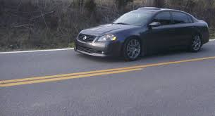 grey nissan altima black rims 2005 nissan altima se r 1 8 mile drag racing timeslip 0 60