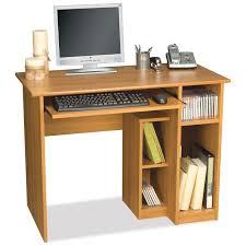 Compact Computer Desk Bestar Basic Computer Desk Cappuccino Cherry Walmart Com