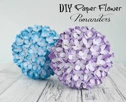Flower Ball How To Make A Paper Flower Pomander Kissing Ball Diy Wedding