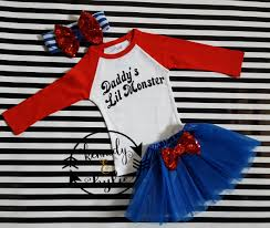 cute harley quinn birthday tutu costume for baby girls and little