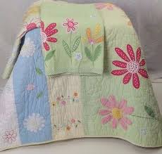 Pottery Barn Kids Twin Quilt Pottery Barn Kids Daisy Garden Green Flower Twin Quilt Sham