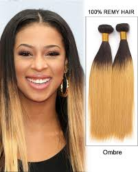 ombre weave 26 remy hair weave weft human hair extensions