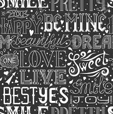 pattern design words seamless pattern with hand drawn words and phrases calligraphic