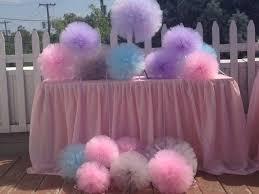 tulle pom poms 20cm 8 tulle pompoms party wedding decoration tulle pom pom in
