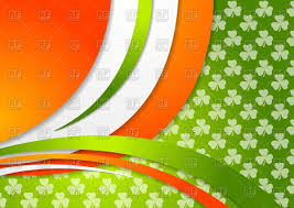 st patrick day background with irish colors vector clipart image