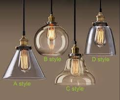 Vintage Light Bulb Pendant Light Bulb Pendant Light Copper Glass Restaurant Pendant Light