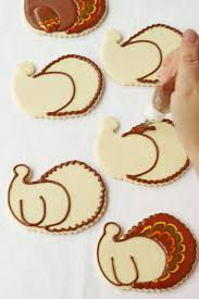 pretty turkey cookies the bearfoot baker
