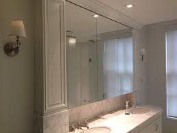 beveled glass medicine cabinet recessed bathroom install recessed medicine cabinet load bearing wall