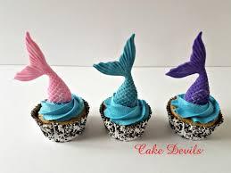 Ocean Cake Decorations Mermaid Cupcake Toppers Fondant Mermaid Tails Under The Sea