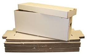 5 collectible comic book cardboard storage boxes