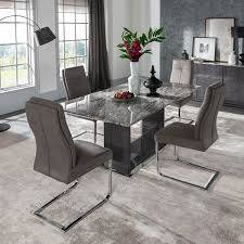 grey marble dining table rina grey marble dining table set modern marble fads