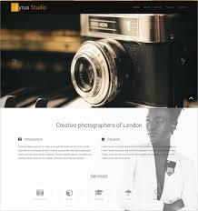 Photographers Websites 31 Free Creative Photography Website Themes U0026 Templates Free