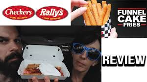 checkers rally u0027s fully loaded funnel cake fries food review