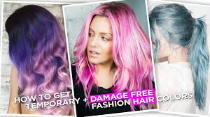 less damaging hair colors how to get temporary damage free fashion hair colors youtube
