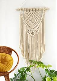Decorating Living Room Wall Decorate Amazon Com Macrame Wall Hanging Tapestry Boho Chic Home