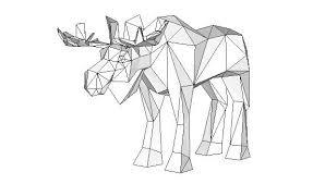 moose template paper model moose free template