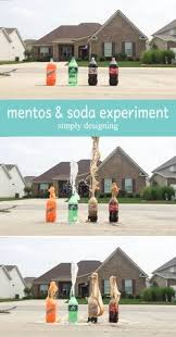 science experiment diet coke and mentos geyser preschool