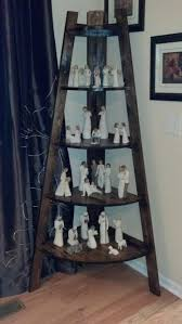 Leaning Shelves Woodworking Plans by Best 25 Corner Ladder Shelf Ideas On Pinterest Ladder Shelves