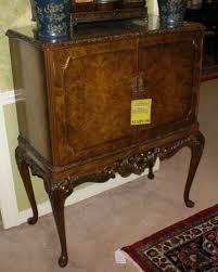 Antique Bar Cabinet Furniture Walnut Queen Anne English Bar