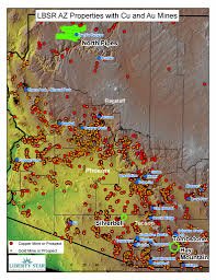 Northern Arizona Map by Liberty Star Uranium And Metals Corp Lbsr Stock Message Board