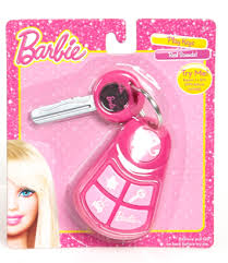 barbie play car key chain play toys kids ages