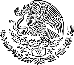 file coat of arms of mexico black linear svg wikimedia commons