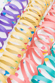 paper ribbons colourful party paper ribbons and confetti stock image image