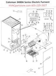 3400a816 coleman electric furnace parts hvacpartstore within