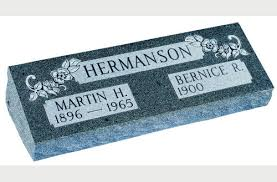 cost of a headstone and companion bevel markers for sale with prices