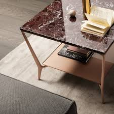 Lower Coffee Table by Rimadesio Planet Coffee Table With Copper Lacquered Aluminum