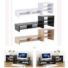 Tv Computer Desk Computer Monitor Riser Laptop Screen Tv Desktop Stand Storage