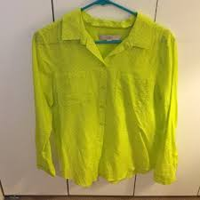 neon blouse 79 loft tops neon green button blouse with pockets