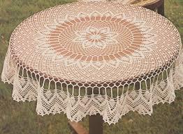 Petite Table De Cuisine Ronde by Crochet Nappe Ronde Et Ovale Le Blog De Crochet Et Tricot D U0027art