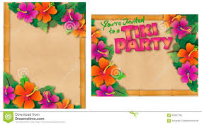 tropical party invitation stock illustration image 62367798