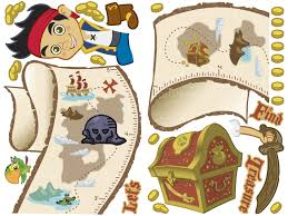 Neverland Map 22 Jake And The Neverland Pirates Wall Decals Jake And The