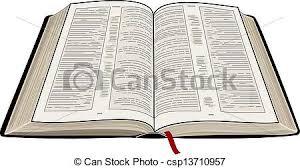 clipart vector of open bible a vector illustration of an open