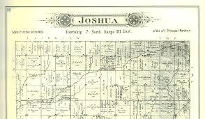 Illinois Township Map by 1895 Atlas Of Fulton County Illinois Joshua Township