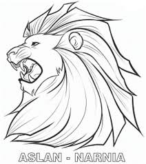 chronicles narnia aslan coloring pages kids cuc